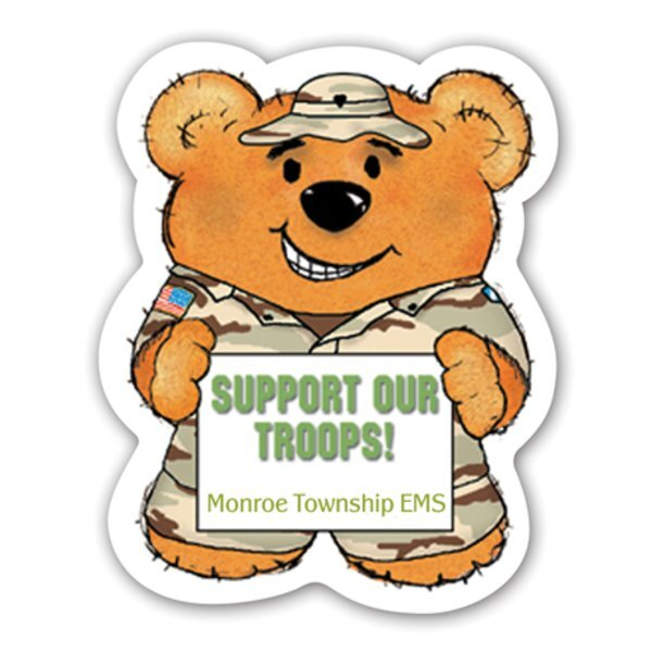 Military Bear Magnet
