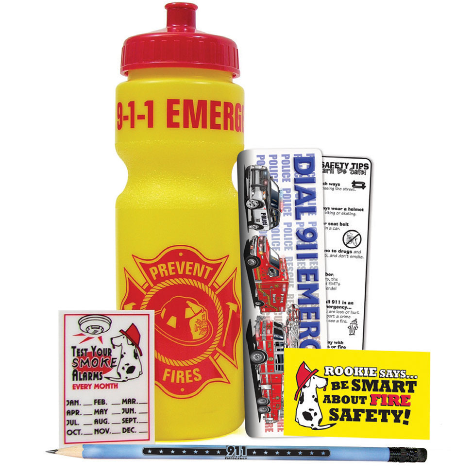 Fire Prevention 28oz. Sport Bottle Kit, Stock