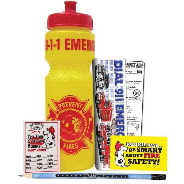 Fire Prevention 28oz. Sport Bottle Kit, Stock