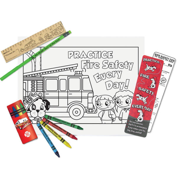 Fire Safety Fun Coloring Kit, Stock
