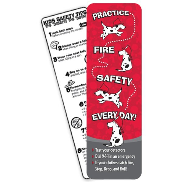 Practice Fire Safety Bookmark, Stock