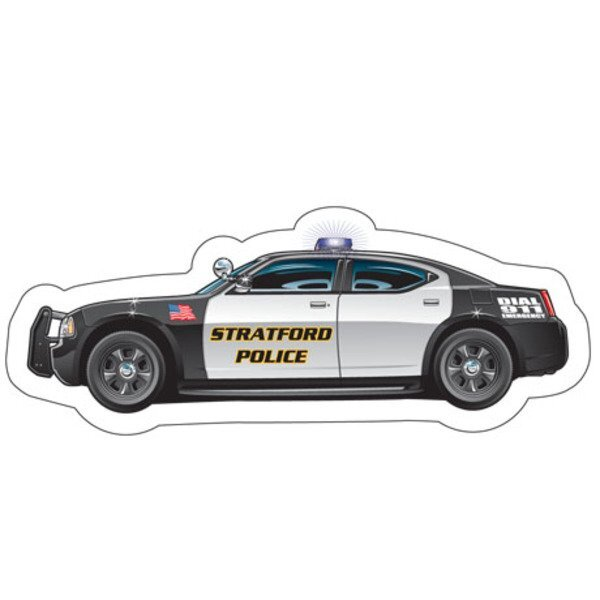 Police Cruiser Full Color Magnet