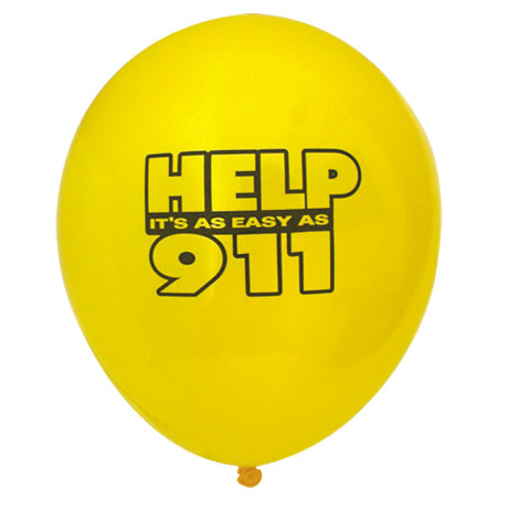 Help It's As Easy As 911 Balloon, Stock
