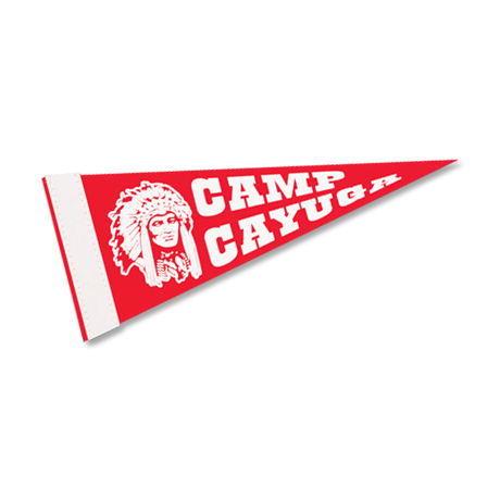 "Colored Felt Pennant, 5"" x 12"""