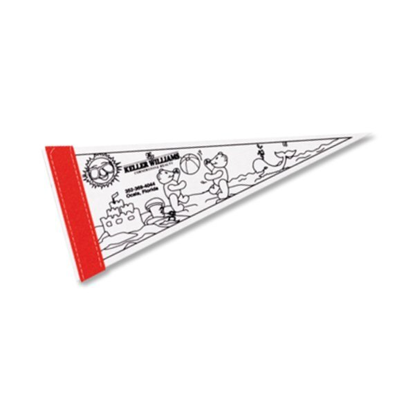"""Color-Me Pennant, 5"""" x 12"""""""