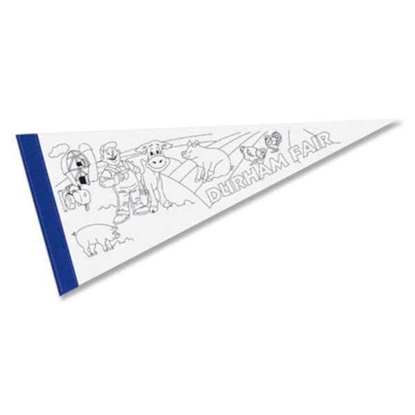 """Color-Me Pennant, 8"""" x 18"""""""