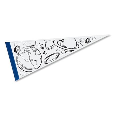 "Color-Me Pennant, 9"" x 24"""