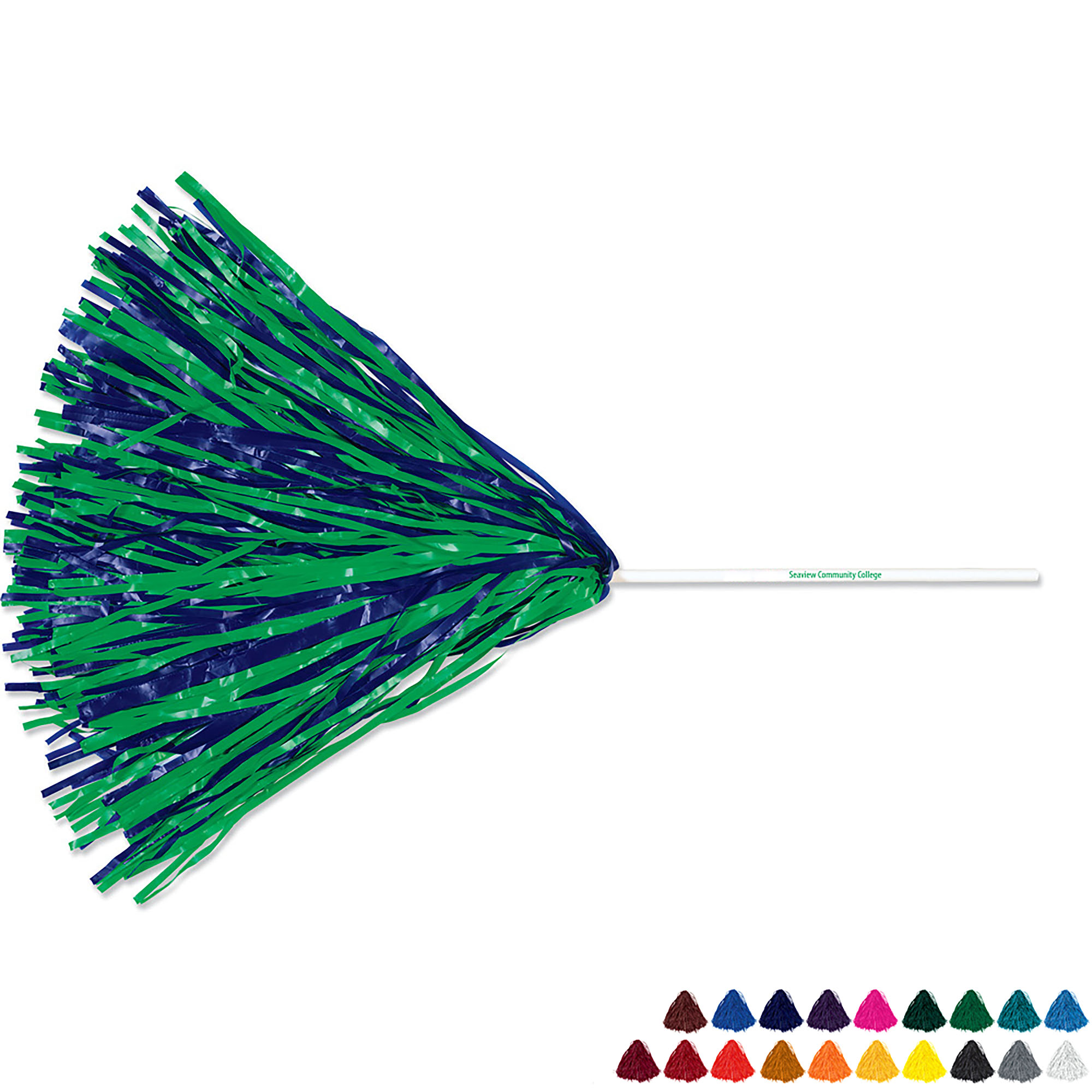 Pom - Straw Handle with 500 Streamers, 10""