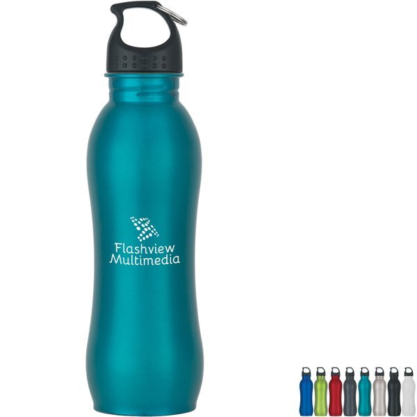 Stainless Steel Grip Bottle, 25oz.