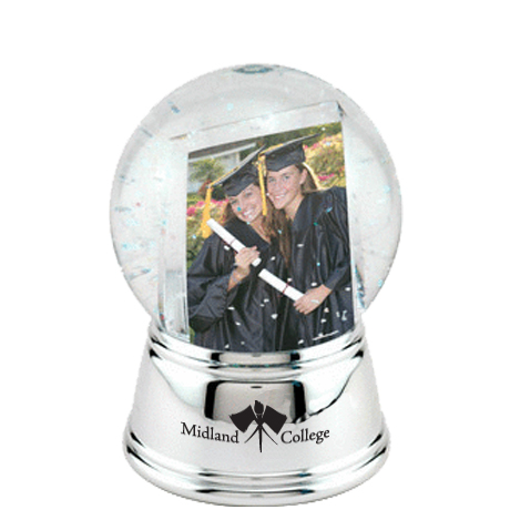 Sphere Photo Globe with Chrome Color Base