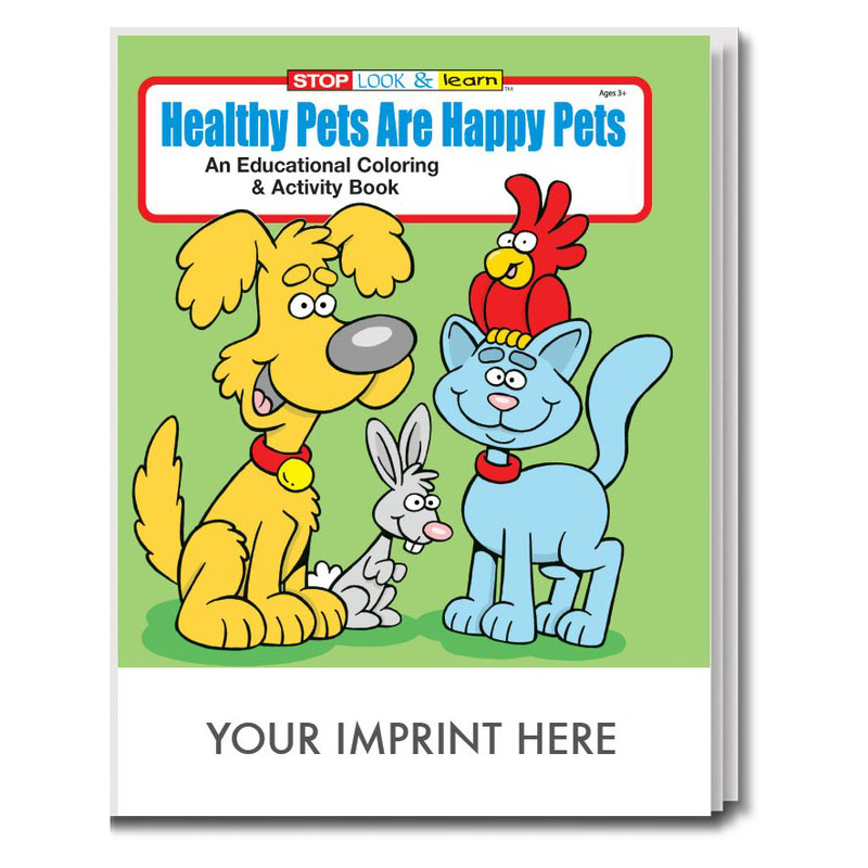 Happy Pets Coloring & Activity Book