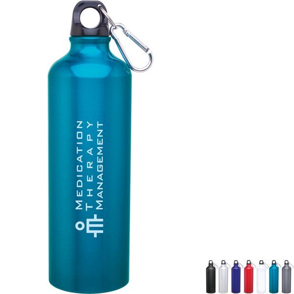 Aluminum Sport Bottle w/ Carabiner, 24oz.