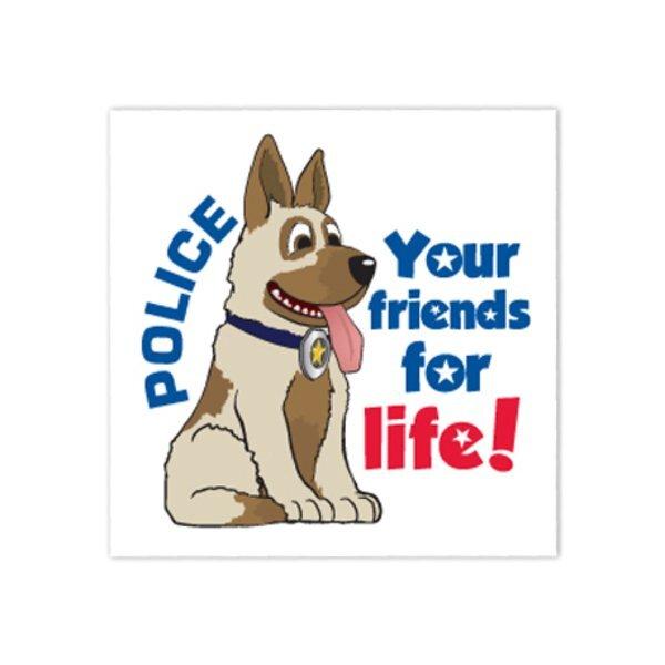 Police Dog Temporary Tattoo, Stock