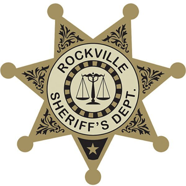 Sheriff's Department 7-Point  Foil Sticker Badge, Custom