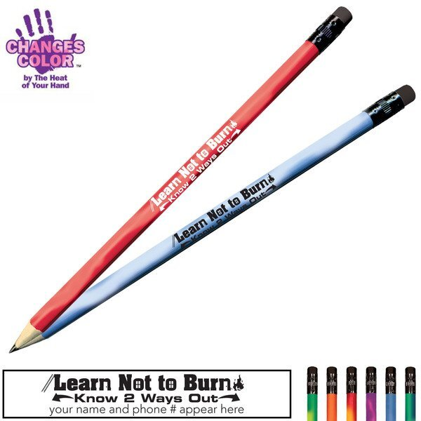 Learn Not to Burn Know 2 Ways Out Mood Color Changing Pencil