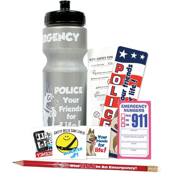 Safety 28oz. Sport Bottle Kit, Stock