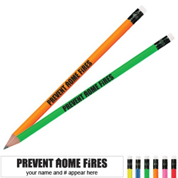 Prevent Home Fires Neon Pencil