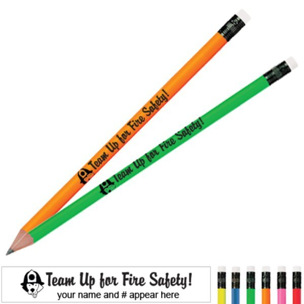 Team Up For Fire Safety Neon Pencil