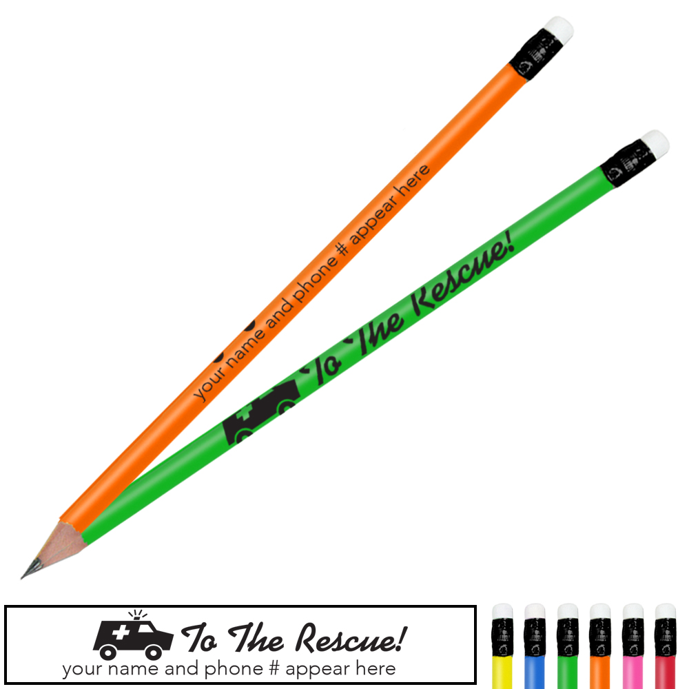 To the Rescue Neon Pencil