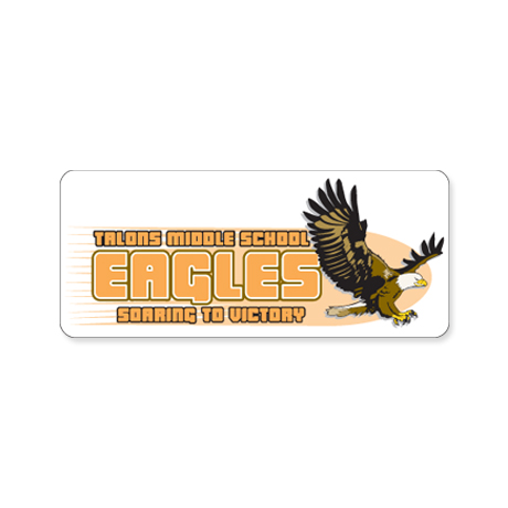 Rectangle Custom Sticker, Large to 5-1/4""