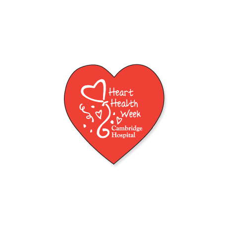 "Heart Shape Custom Sticker, 3/4"""