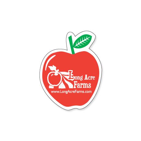 "Apple Shape Custom Sticker, 2-1/16"""