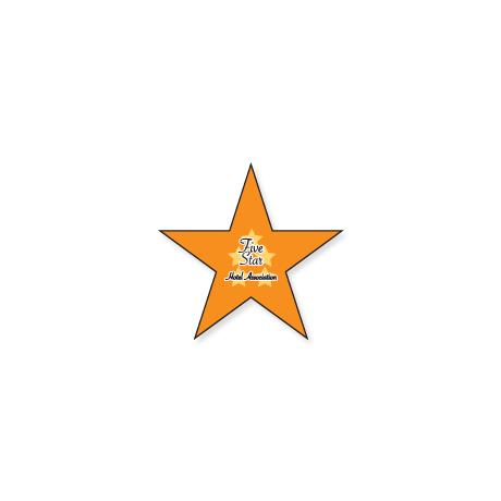 "Star Shape Custom Sticker, 5/8"""