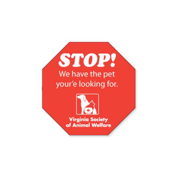 "Stop Sign Shape Custom Sticker, 2-1/4"""