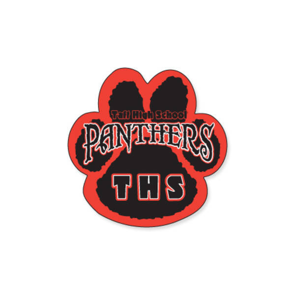 Paw Shape Custom Sticker, 1-7/8""