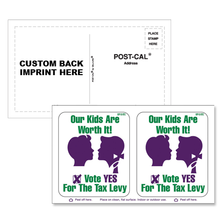 Post Card Static Cling Decal, Set of 2