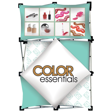 "Micro GeoMetrix™ Tabletop Pop-Up Display Kit, 42"" x 29"""