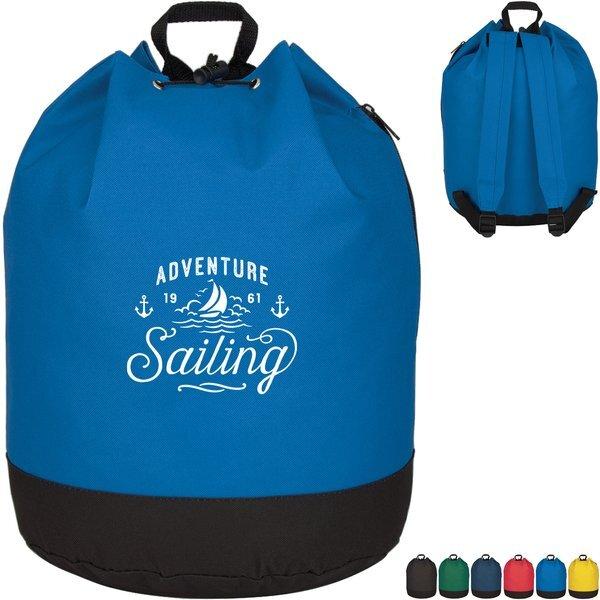 Drawstring Padded Strap 600D Backpack