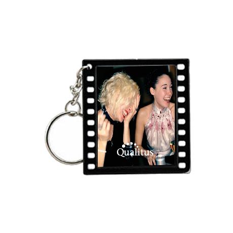 "Filmstrip Slip-In Photo Keytag, 2"""