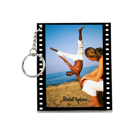 Filmstrip Slip-In Photo Keytag, 3""