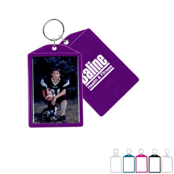 Cool Color Snap-In Photo Keytag