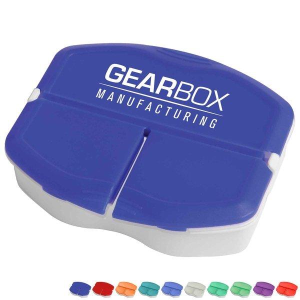 Tri-Minder Pocket Pill Box, Three Compartment