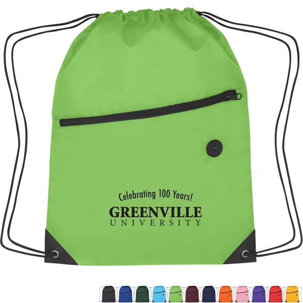 Large Polyester Sports Pack w/ Front Zipper