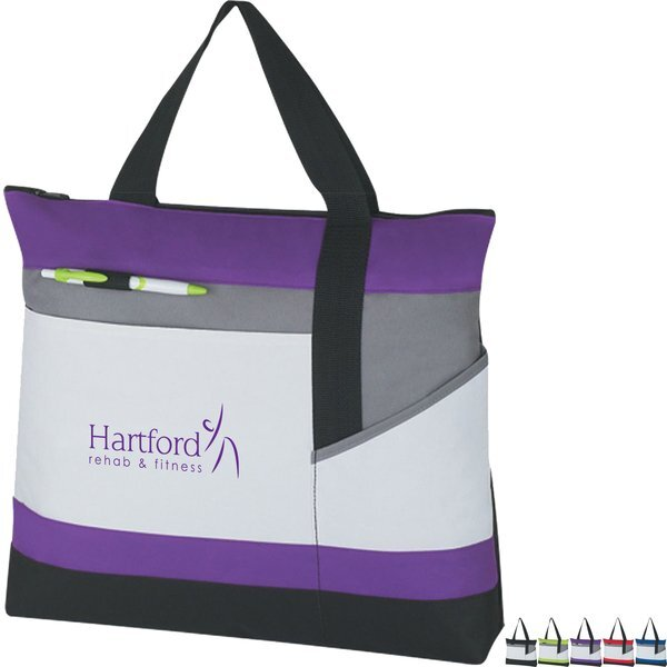 Advantage Zippered Polyester Tote