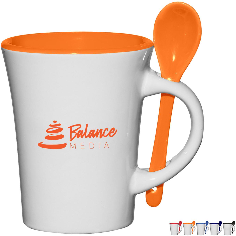 Blanco Ceramic Spooner Mug, 8oz.