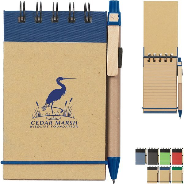 "Eco-Friendly Spiral Jotter & Pen, 3"" x 5"""