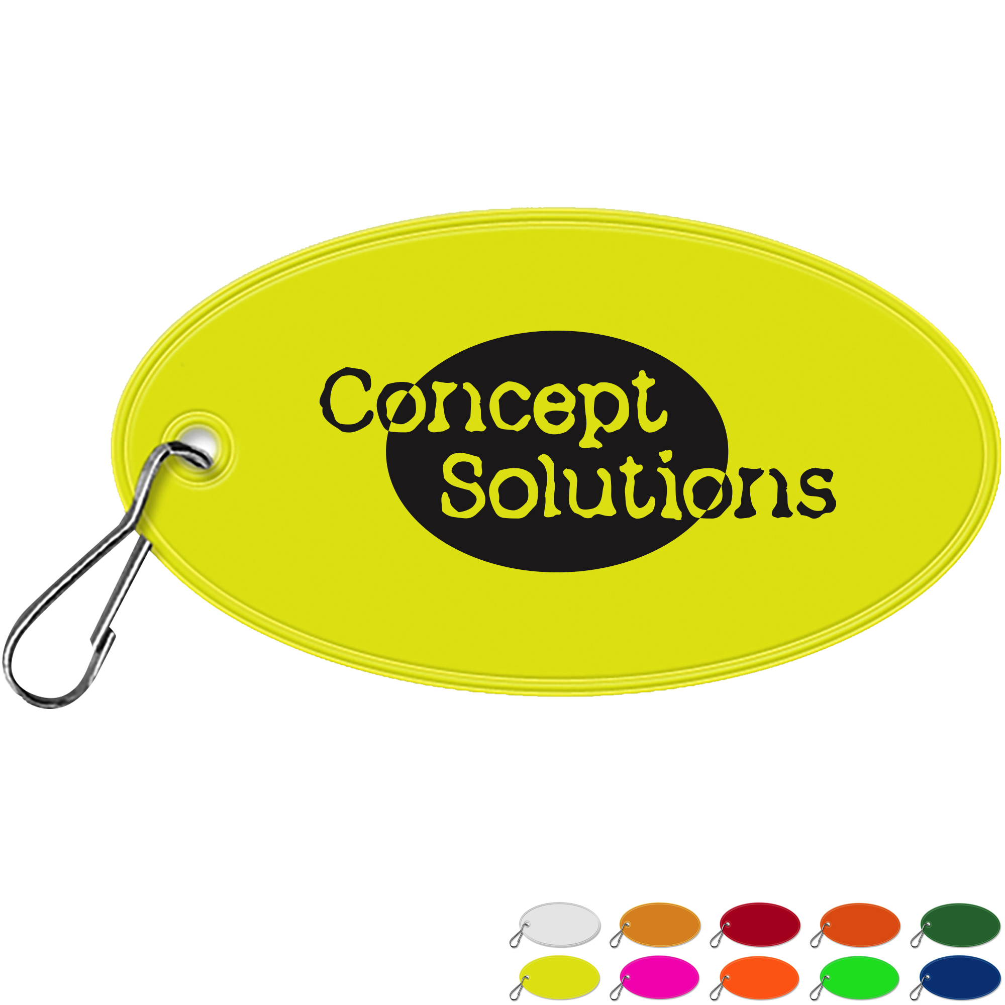 Reflective Hook Zipper Pull, Oval
