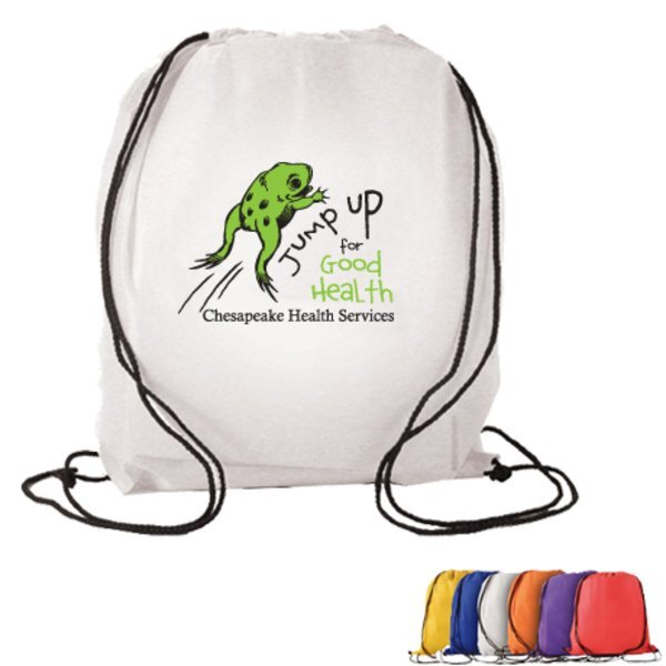 Non-Woven Drawstring Backpack,  Full Color