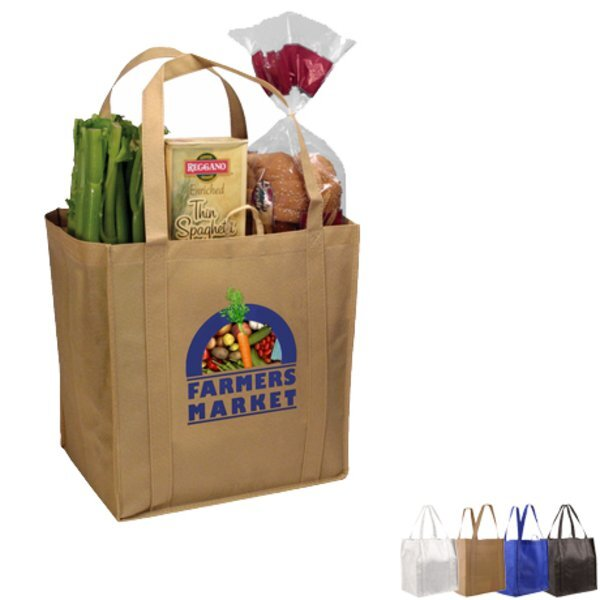 Non-Woven Grocery Tote, Full Color