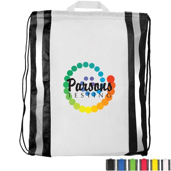 Non-Woven Reflective Drawstring Backpack, Full Color
