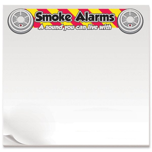 Smoke Alarms A Sound You Can Live With, 25 Sheet Sticky Pad