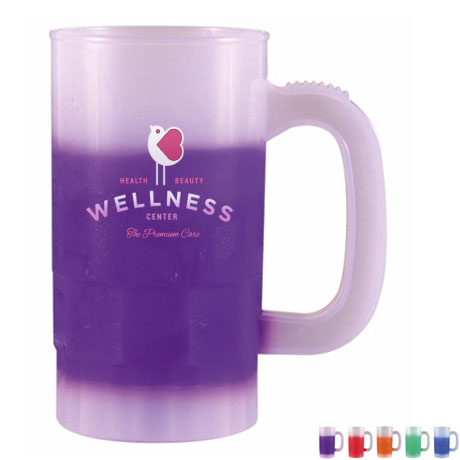 ColorBurst Mood Color Changing Party Stein, 14oz. w/ Full Color Imprint