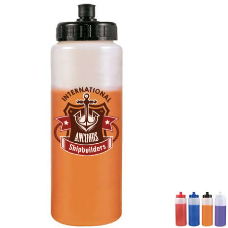 Mood Sports Bottle w/ Push Pull Cap, 32oz. - Full Color