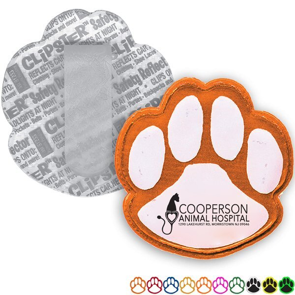 Reflective Clipster®, Paw Print