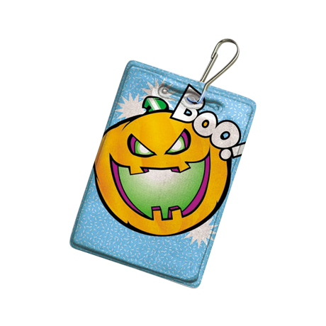 Halloween Reflective Hook Zipper Pull, Pumpkin - Stock