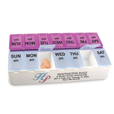 Daily Reminder 7-Day Medicine Tray, 7-1/4""